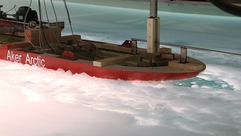 New icebreaker model tested in lab. Image: YLE.