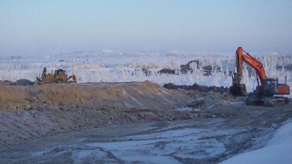 In January Talvivaara built settling ponds south of the mining area. Image: Heikki Rönty / Yle