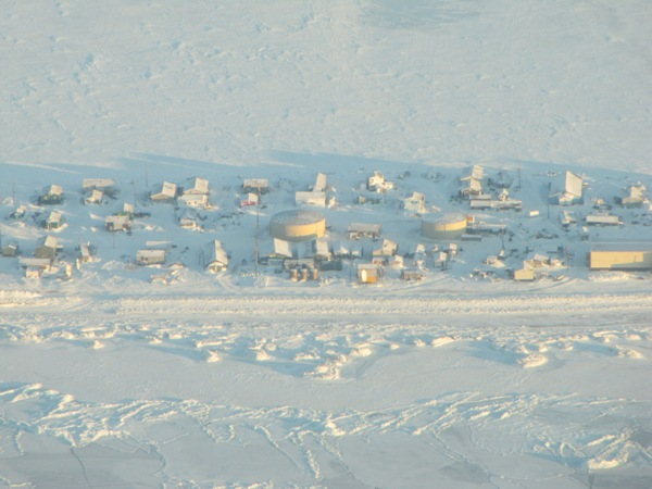 The remote Alaska village of Kivalina in winter. Photo: Alaska Dispatch staff