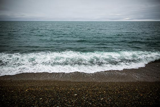 Gravel beach in the St.-Lawrence island village of Gambell. On a clear day you can see Russia from here. August 29, 2012. Photo: Loren Holmes. Alaska Dispatch.
