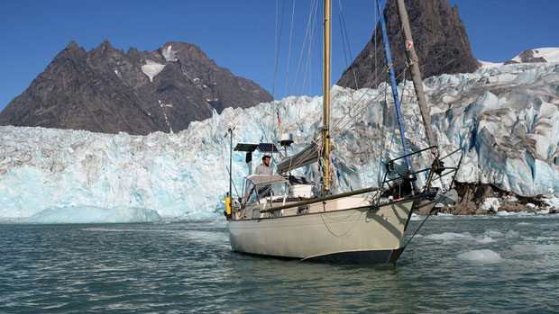 The sailboat, named the Belzebub II, is the first boat other than an icebreaker to travel a challenging route through the Northwest Passage. (photo courtesy of belzebub2.com) CBC.ca