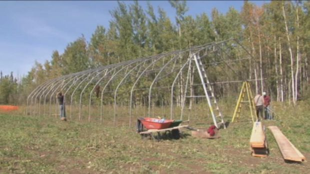 The Hay River community garden should be ready for planting next spring. (Jacob Barker/CBC )