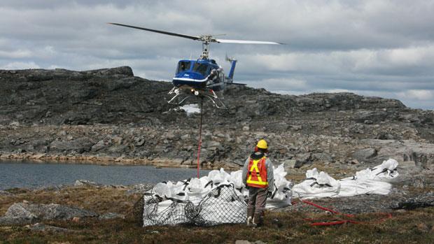 Bulk samples of kimberlite at Peregrine Diamond's Chidliak site in Nunavut. (Peregrine Diamonds) CBC.ca