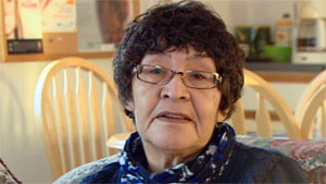 Addie Jonassen of Lutselk'e, N.W.T., sits on the Thaidene Nene Advisory Board. The community will receive $100,000 from ArcticNet's Arctic Inspiration Prize towards its preparation for a nearby new national park reserve. (CBC)