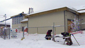 The construction of the hospitals in Dawson City and Watson Lake are over budget and behind schedule. NDP and official opposition leader Liz Hanson says she fears Yukoners could be left with two white elephants. (CBC)