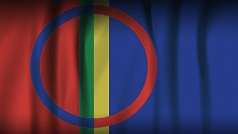 The Sami flag. Image: YLE Uutisgrafiikka