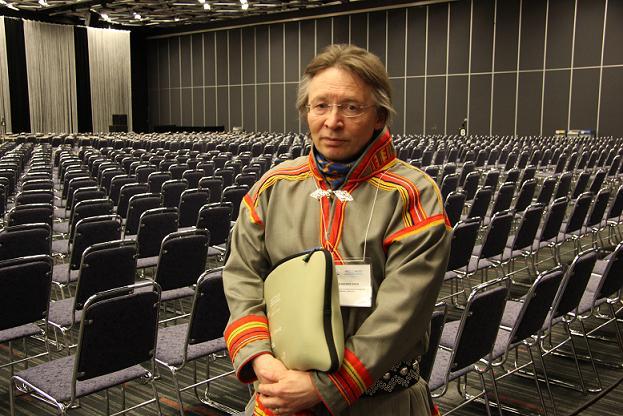 Lars-Anders Baer, former President of the Saami Parliament. Photo: Eilís Quinn, Radio Canada International.