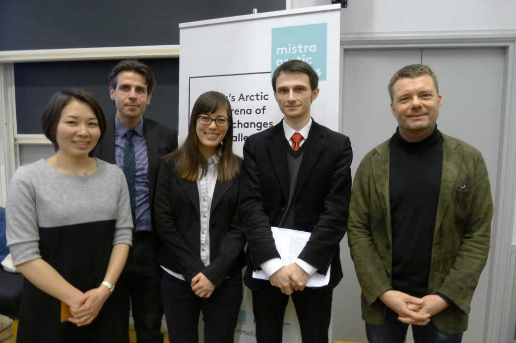 Panelists at the Asian-Arctic Seminar at KTH, February 19, 2013.