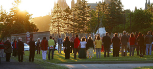 Anyone can join and participate in a Sunrise Ceremony. (Sean Kilpatrick/The Canadian Press)