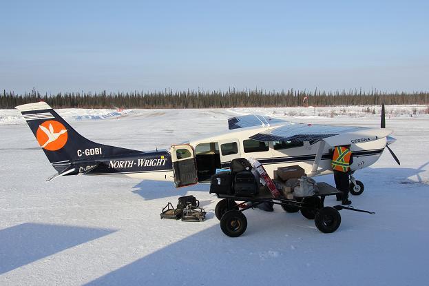 Four-seater plane to Deline, Northwest Territories. Photo: Eilís Quinn. Radio Canada International