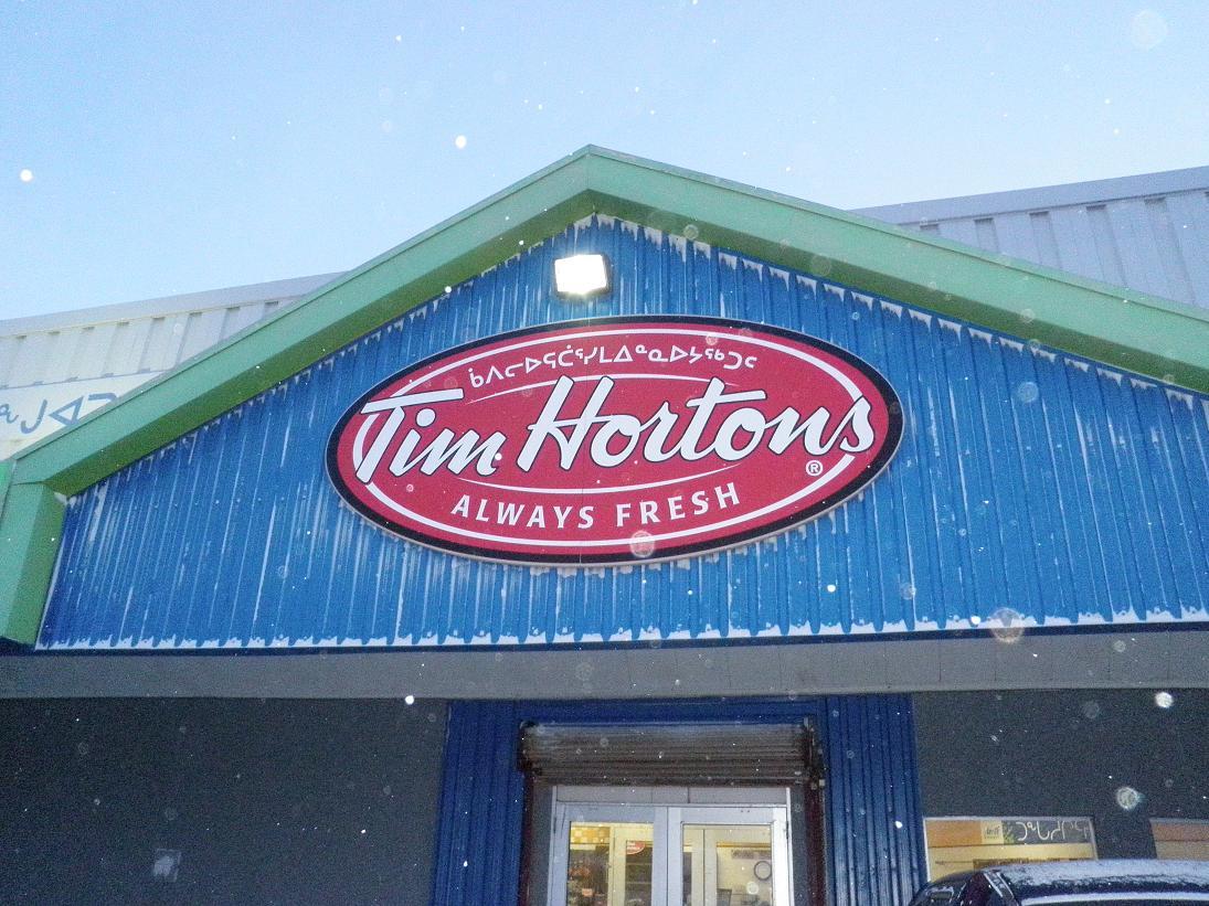 Tim Hortons Iqaluit location. Photo by Eilís Quinn.
