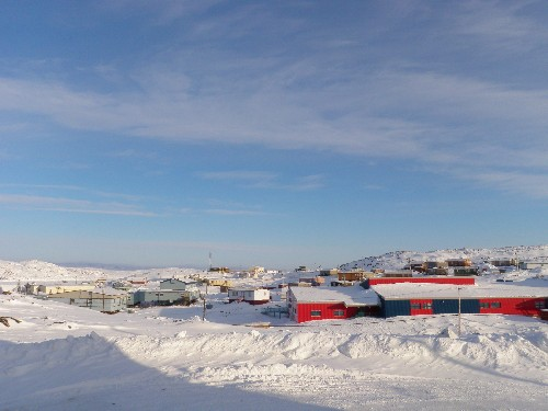 Cape Dorset, Nunavut. The community's print program is over 50 years old. (Eilis Quinn / Eye on the Arctic)
