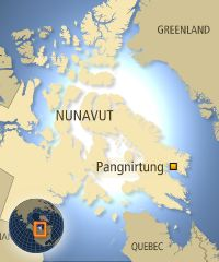 Pangnirtung is located 300 kilometres north of Iqaluit on Baffin Island. (CBC)