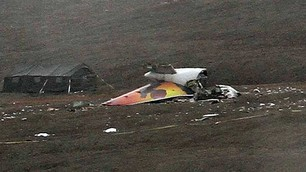 Wreckage of Boeing 737 in Resolute Bay, Nunavut. (CBC)
