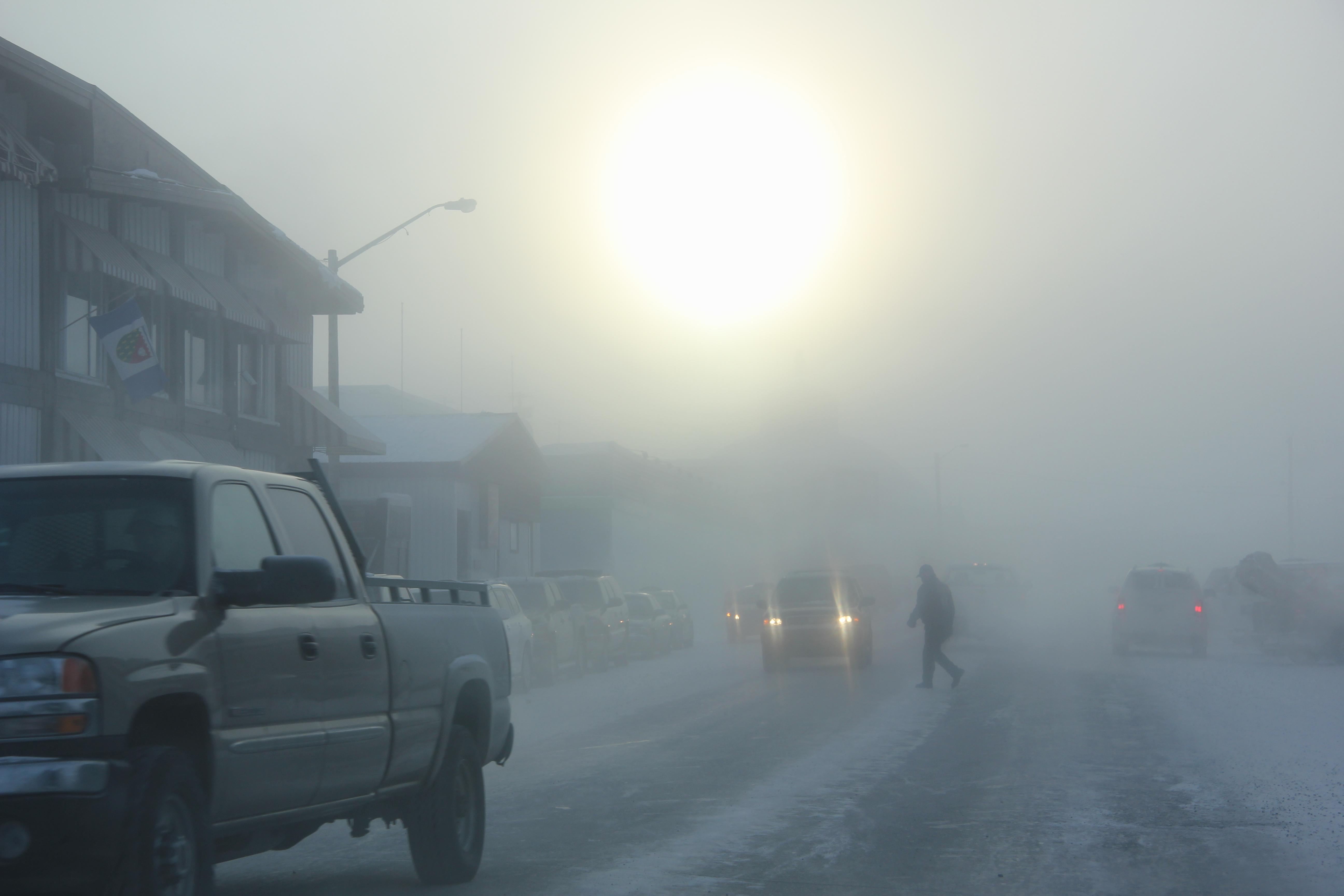 Downtown Inuvik. (Eilís Quinn / Eye on the Arctic)