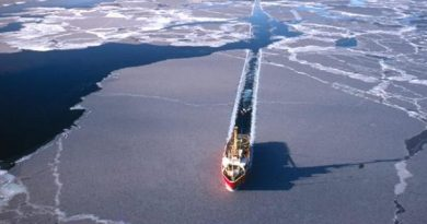 The Northern Sea Route along Russia's north coast is projected to be more passable than the Northwest Passage, located above Alaska and Canada, in the short term. But as the decades wear on, both may be feasible for more months out of the year, with a trans-polar route in international waters possibly coming into play for the largest of ice-hardened ships. (Alaska Dispatch)
