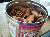 A tin of traditional Swedish ginger snaps. (Kris Boswell / Radio Sweden)