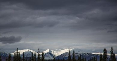 Mountains with fresh snow along the Denali Park Road. September 14, 2012. (Courtesy Brian Weeks, Alaska Dispatch)