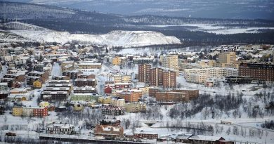 The city of Kiruna in Sweden's Arctic. Sweden will hand over chairmanship of the Arctic Council to Canada here on May 15th. (Olivier Morin, AFP)
