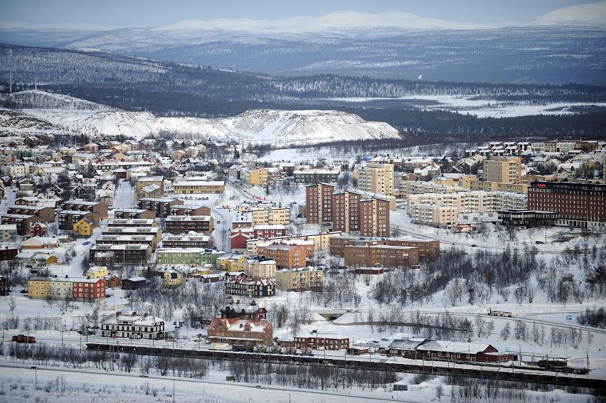 The city of Kiruna in Sweden's Arctic.
