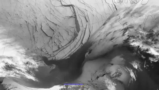 Beaufort Sea ice breakup. (NASA)