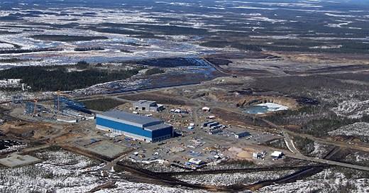 Kaunisvaara mine, outside Pajala. The first shipments of ore left the Norwegian port of Narvik last week, bound for Tata Steel in the Netherlands. (Northland, Radio Sweden)