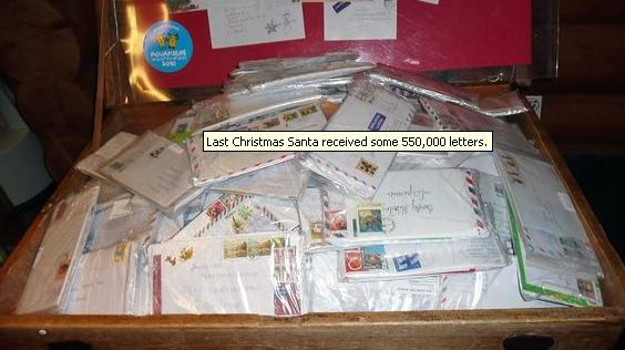 Last Christmas Santa received some 550,000 letters. (Hillevi Antikainen, Yle)