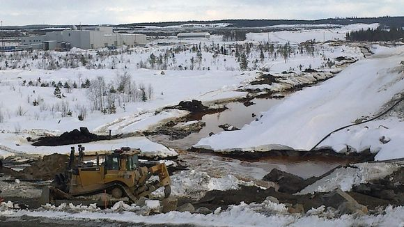 Talvivaara has faced repeated problems with leakage from waste water ponds. (Heikki Rönty / Yle)