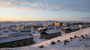 Iqaluit, the capital of Canada's eastern Arctic territory of Nunavut. A ceremony on Friday honoured the wives of police stationed in such communities. (The Canadian Press)