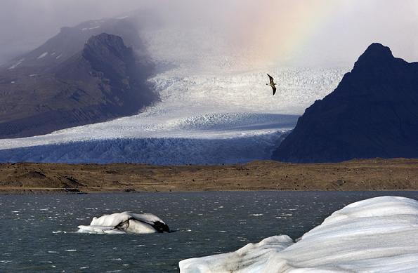 Glacier in Iceland. (AFP)