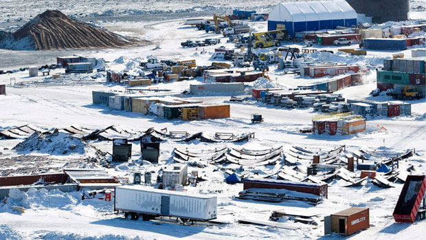 The Meadowbank gold mine, owned by Agnico-Eagle, is located near Baker Lake, Nunavut, on Inuit-owned land. (Canadian Press)