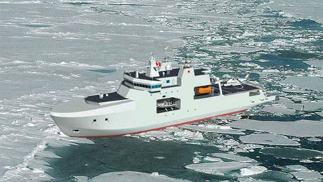 An illustration from the Department of National Defence, from 2009, of what an Arctic offshore patrol ship could look like. (DND)