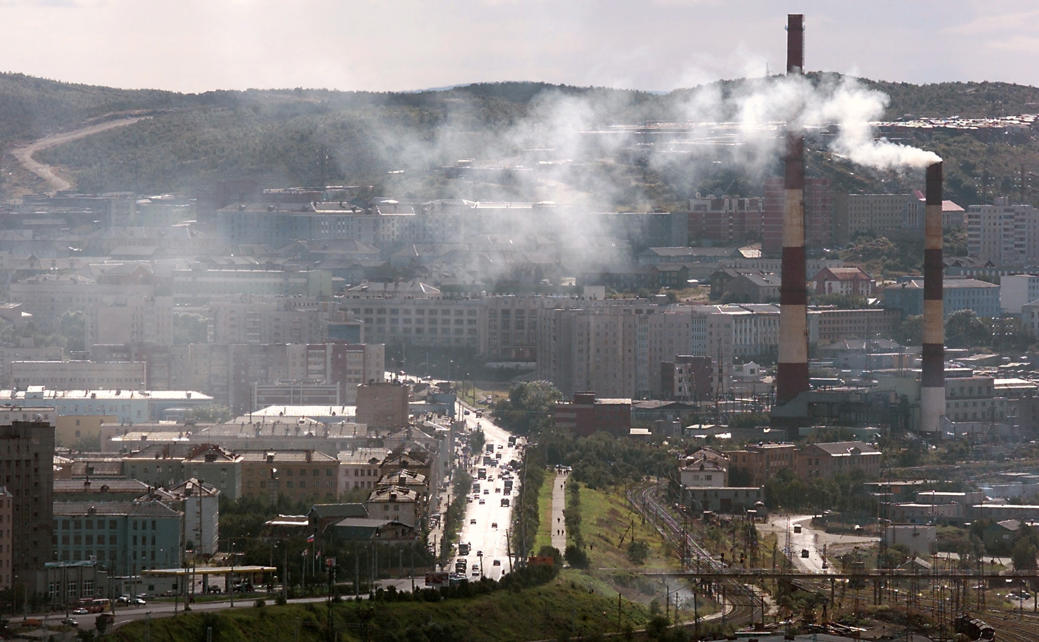 Russia's northern port of Murmansk. EMERCOM sites will stretch from here to to Provideniya, in easternmost Russia.(AFP)