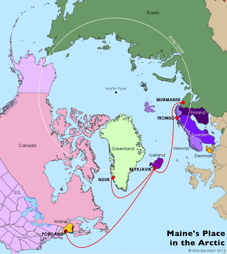 Maine's place in the Arctic (Mia Bennett, 2013)