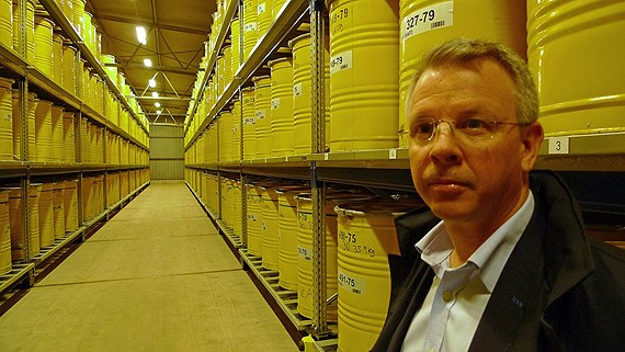 Sven Ordéus is the CEO of waste company SVAFO. Photo: Marcus Hansson/Swedish Radio