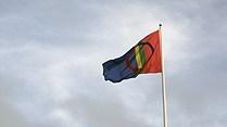 The flag of Sweden's indigenous Sami population. (Tommy Engman / Sveriges Radio)