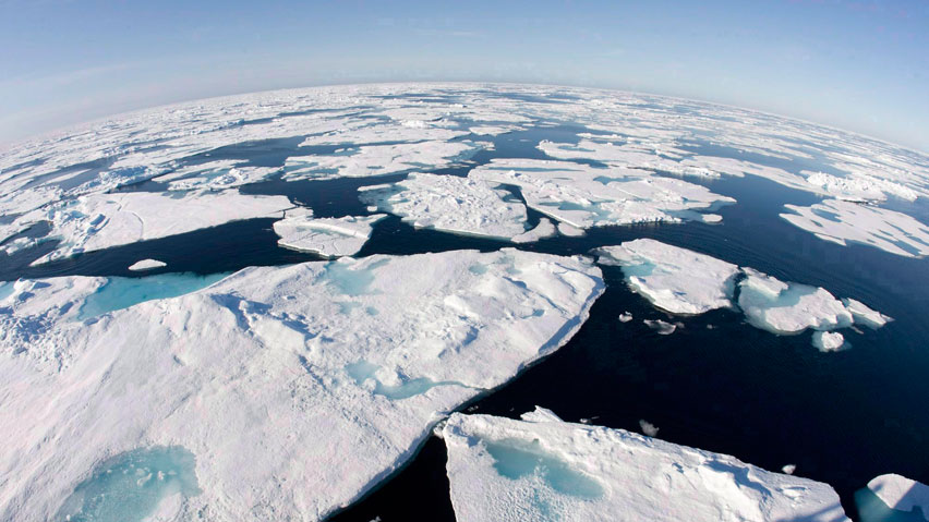ce floes float in Baffin Bay above the Arctic circle as seen from the Canadian Coast Guard icebreaker Louis S. St-Laurent. A group of economic and scientific researchers say melting ice could cost $60 trillion over 10 years. (Jonathan Hayward/Canadian Press)