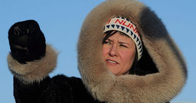 Leona Aglukkaq, minister of the Canadian Northern Economic Development Agency and the MP for Nunavut, pictured touring Frobisher Bay in Iqaluit in 2012, is chair of the Arctic Council and wants it to have more input from business sectors. (Sean Kilpatrick/Canadian Press)