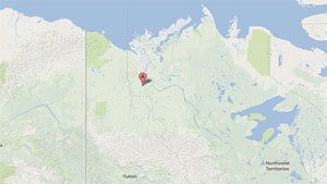 About 800 people live in the community of Fort McPherson, in Canada's Northwest Territories. (Google)