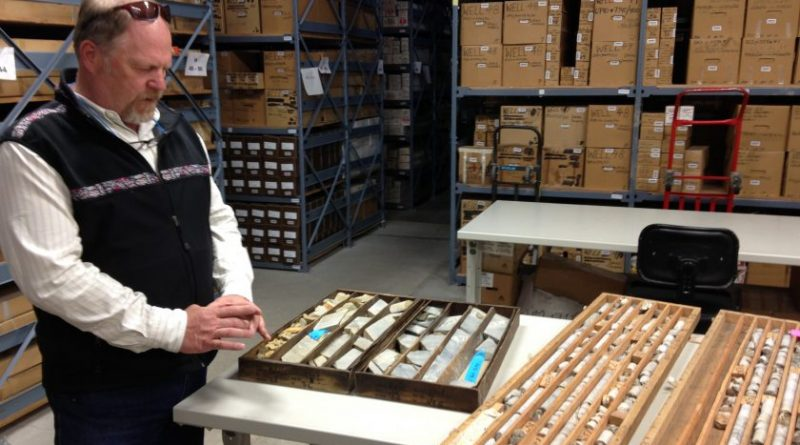 Fort Knox gold mine core samples at the Geologic Materials Center in Eagle River. June 7, 2013. (Sean Doogan / Alaska Dispatch)