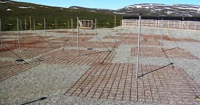 The KAIRA radio telescope is located at Kilpisjärvi, right along the border with Norway. (Raimo Torikka / Yle)