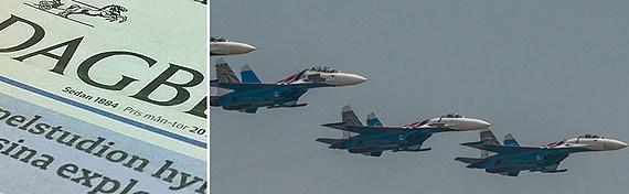Russian military exercise prompts complaint.(Photo: Scanpix. Montage: Sveriges Radio)