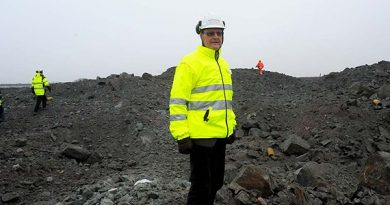 Former Northland CEO Karl-Axel Waplan at the mine outside Pajala. (Alf Lindbergh / Pressbilder / Radio Sweden)