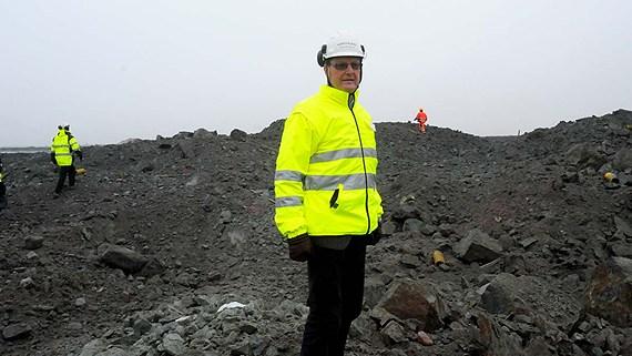 Former Northland CEO Karl-Axel Waplan at the mine outside Pajala. (Alf Lindbergh / Pressbilder / Radio Sweden)