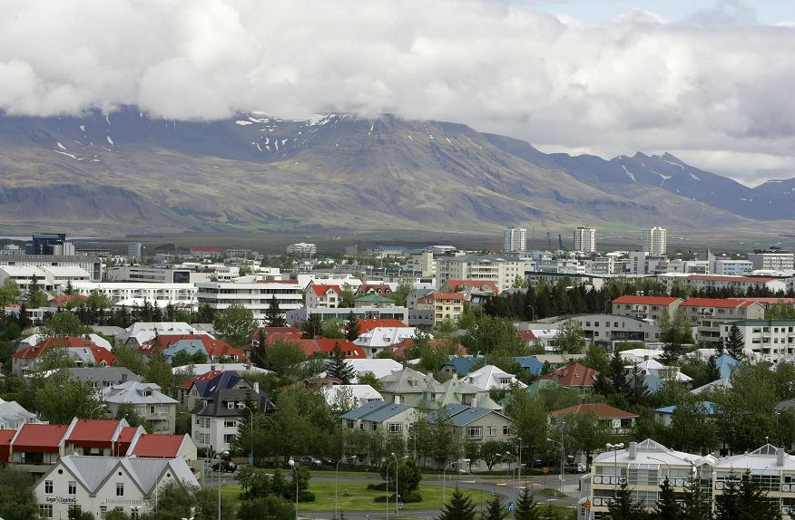 View across Reykjavík in Iceland from Öskjuhlíd Hill. (Kirsty Wigglesworth, File / AP)