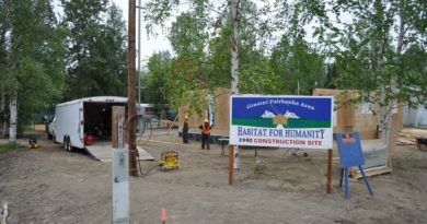 Habitat for Humanity's construction site in North Pole, summer 2012. The geothermal unit slashed utility costs by 50 percent in its new three-bedroom, two-bathroom home. (Courtesy Habitat for Humanity / Alaska Dispatch)