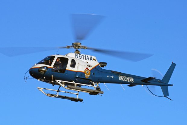 Alaska State Troopers' new search-and-rescue helicopter touched down in Anchorage last week. (Courtesy American Eurocopter / Alaska Dispatch)