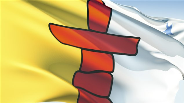 The Nunavut flag. A recent report states not enough has been done in areas such as the collection and sharing of information about at-risk youth. (iStock)