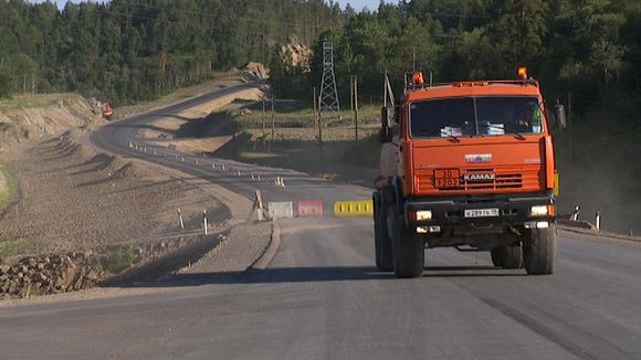 Construction has already started on the Onega Freeway's Russian side. (Yle)
