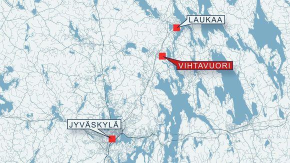 Kartta Jyvaskyla Laukaa Vihtavuori Eye On The Arctic